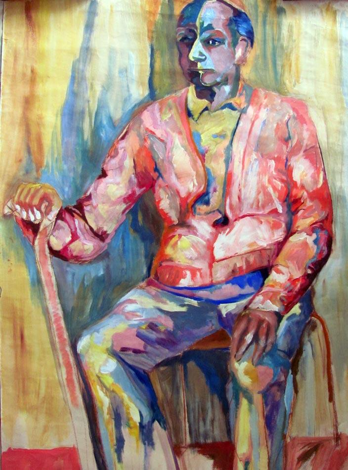 Study in oil, Cakovice, 2000