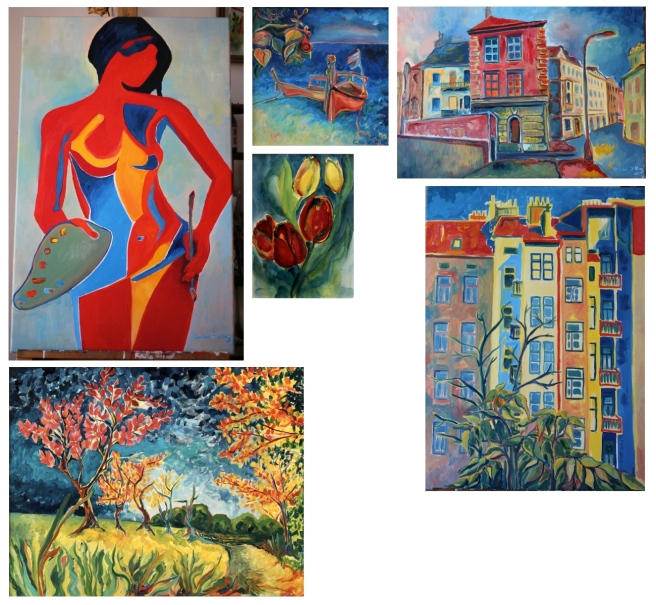 Paintings by Radka Zimova King 2013 and 2014