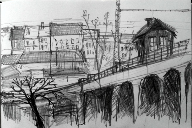 Karlin viaduct sketch by Radka