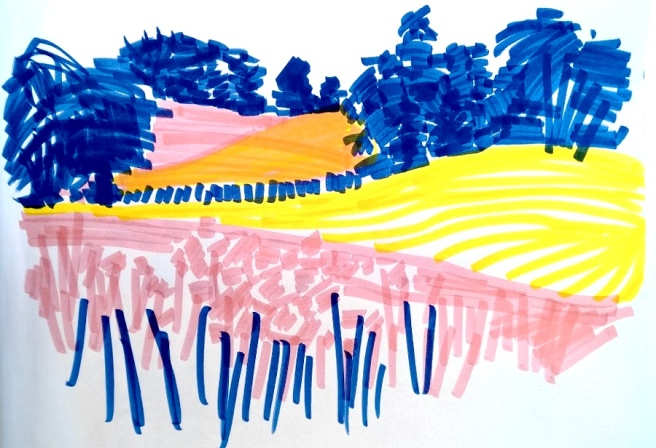 RadkaKing_summersketching_landscape_threecolors