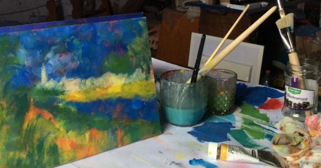 Artist Attic Studio, Radka's summer painting sessions